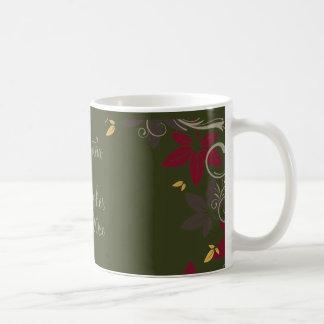 Herbst-Blätter auf grüner Hochzeit Tasse
