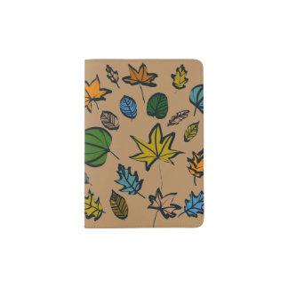 Herbst-Blätter auf Pass-Halter Passhülle