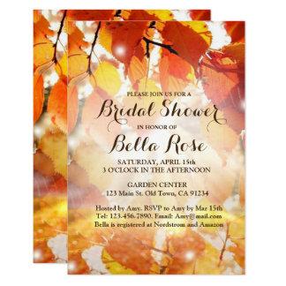 Herbst-Blätter-Fall-Brautparty-Einladung Karte