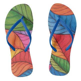 Herbst-Blätter Flip Flops