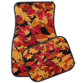 Herbst-Blätter in rotem orange gelbem Brown Automatte