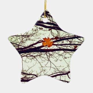 Herbst-Blätter Keramik Ornament