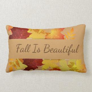 Herbst-Blätter Kissen-Fall ist schön Lendenkissen