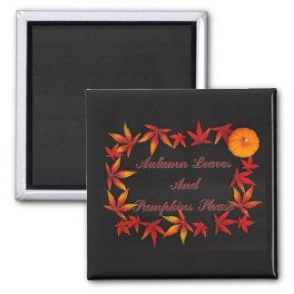 Herbst-Blätter Quadratischer Magnet