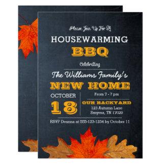 Herbst-Blätter u. Tafelhousewarming-Einladung 12,7 X 17,8 Cm Einladungskarte