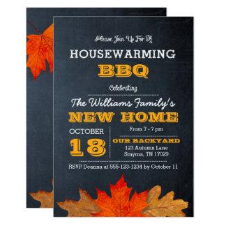 Herbst-Blätter u. Tafelhousewarming-Einladung 8,9 X 12,7 Cm Einladungskarte