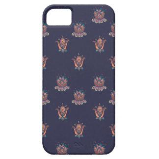 Herbst-Blumen-Telefon-Kasten-Marine iPhone 5 Cover
