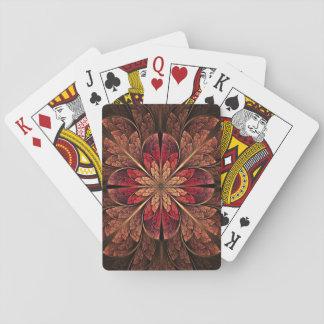 Herbst-Blüten-Spielkarte Spielkarten