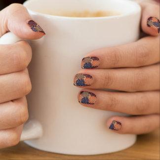 Herbst-Dahlie-Nagel-Kunst Minx Nagelkunst