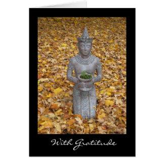 Herbst-Dankbarkeits-Karte - mit Grenze Grußkarte