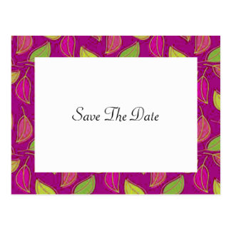 Herbst, der Save the Date Postkarte Wedding ist