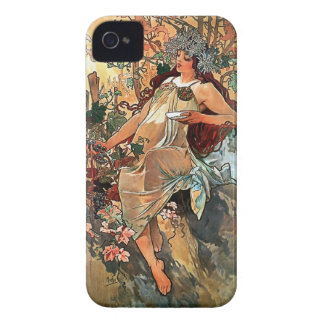 Herbst durch Alfons Mucha 1896 Case-Mate iPhone 4 Hülle