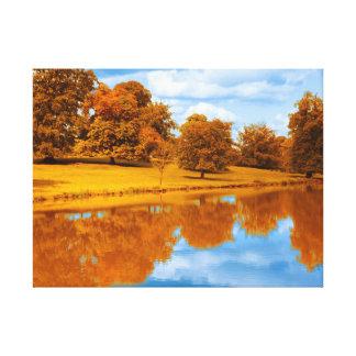 Herbst durch den See Leinwanddruck