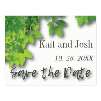 Herbst-Eiche Save the Date Postkarte