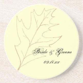 Herbst-Eichen-Blatt-Hochzeit Untersatz