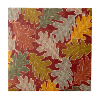 Herbst-Eichen-Blätter Fliese