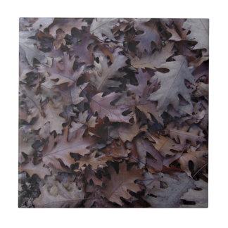 Herbst-Eichen-Blätter Keramikfliese