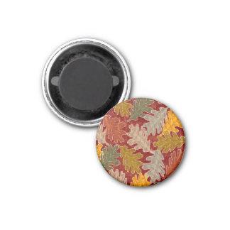 Herbst-Eichen-Blätter Runder Magnet 3,2 Cm