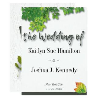 Herbst-Eichen-Hochzeit Karte