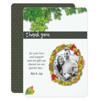 Herbst-Eichen-ovaler Kranz danken Ihnen Karte