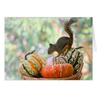 Herbst-Ernte-Eichhörnchen Karte