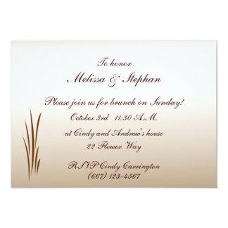 Herbst-Ernte-Hochzeits-Brunch 12,7 X 17,8 Cm Einladungskarte