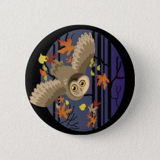 Herbst-Eule Runder Button 5,1 Cm