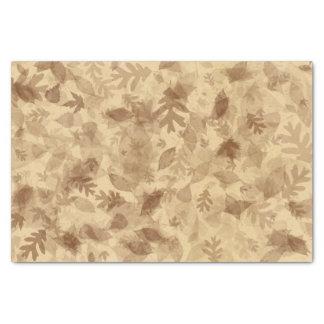 Herbst-Fall Blätter im Sepia Brown Seidenpapier