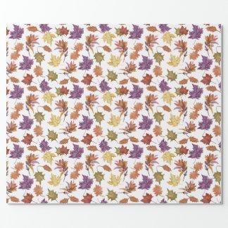Herbst-Fall-Jahreszeitwatercolor-Blätter Geschenkpapier