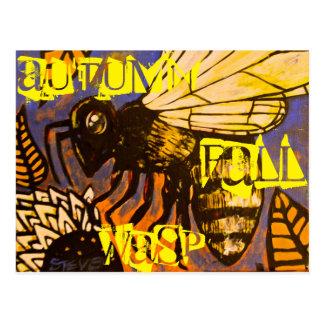 Herbst-Fall-Wespe Postkarte