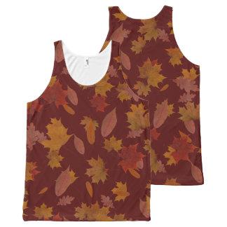 Herbst-fallendes Blätter auf kundenspezifischem Komplett Bedrucktes Tanktop