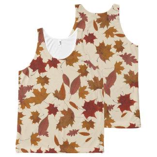 Herbst-fallendes Blätter auf kundenspezifischer Komplett Bedrucktes Tanktop