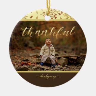 Herbst-Farben, dankbares Foto Keramik Ornament