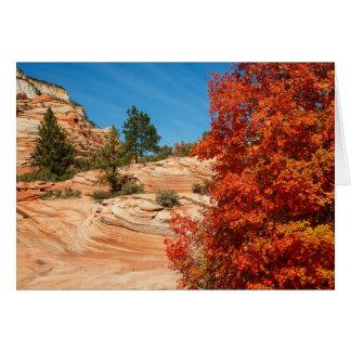 Herbst-Farben Karte