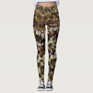 Herbst färbt lustiges Mosaik-Muster Leggings
