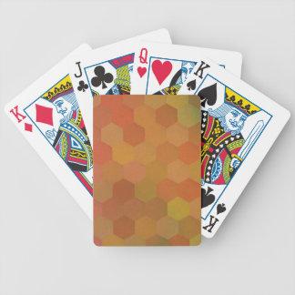 Herbst färbt sechseckiges Vintages Muster Poker Karten