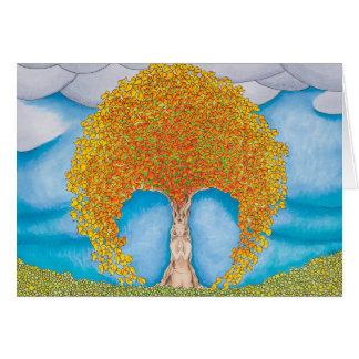 Herbst-Gebet Grußkarte