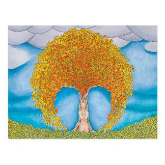 Herbst-Gebets-Postkarte Postkarte
