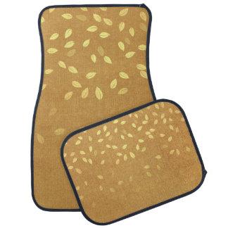 Herbst-Gold verlässt Muster Autofußmatte