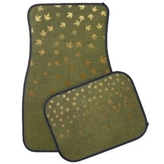 Herbst-Gold verlässt Muster Automatte