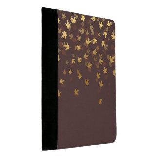 Herbst-Gold verlässt Muster Padfolio