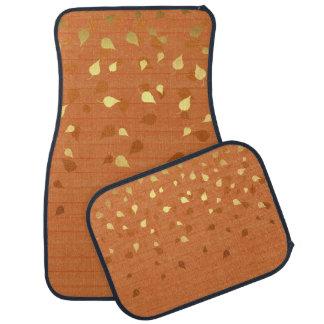 Herbst-GoldBlätter/Pinecone Muster Autofußmatte