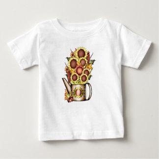 Herbst-Goldsonnenblume-Gelb-Land Prims Baby T-shirt