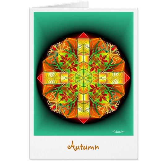 Herbst Grußkarte