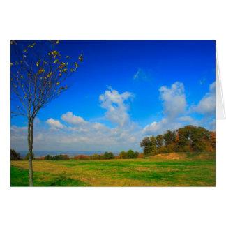 [Herbst-Himmel] blauer Wolken-Fall [freier Raum Grußkarte
