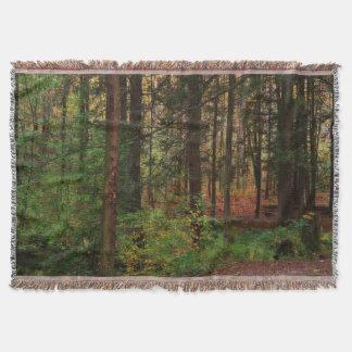 Herbst-Holz afghanisch Decke