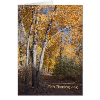 Herbst-Holz-Geschäft danken Ihnen Karte