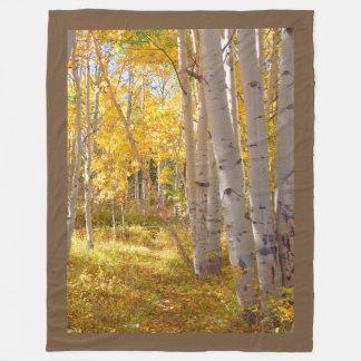 Herbst-Holz-Schoss-Wärmer Fleecedecke