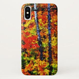 Herbst in der malenden Kunst #2 des Wald| iPhone X Hülle