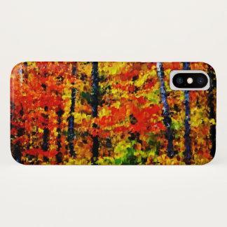 Herbst in der malenden Kunst des Wald| iPhone X Hülle